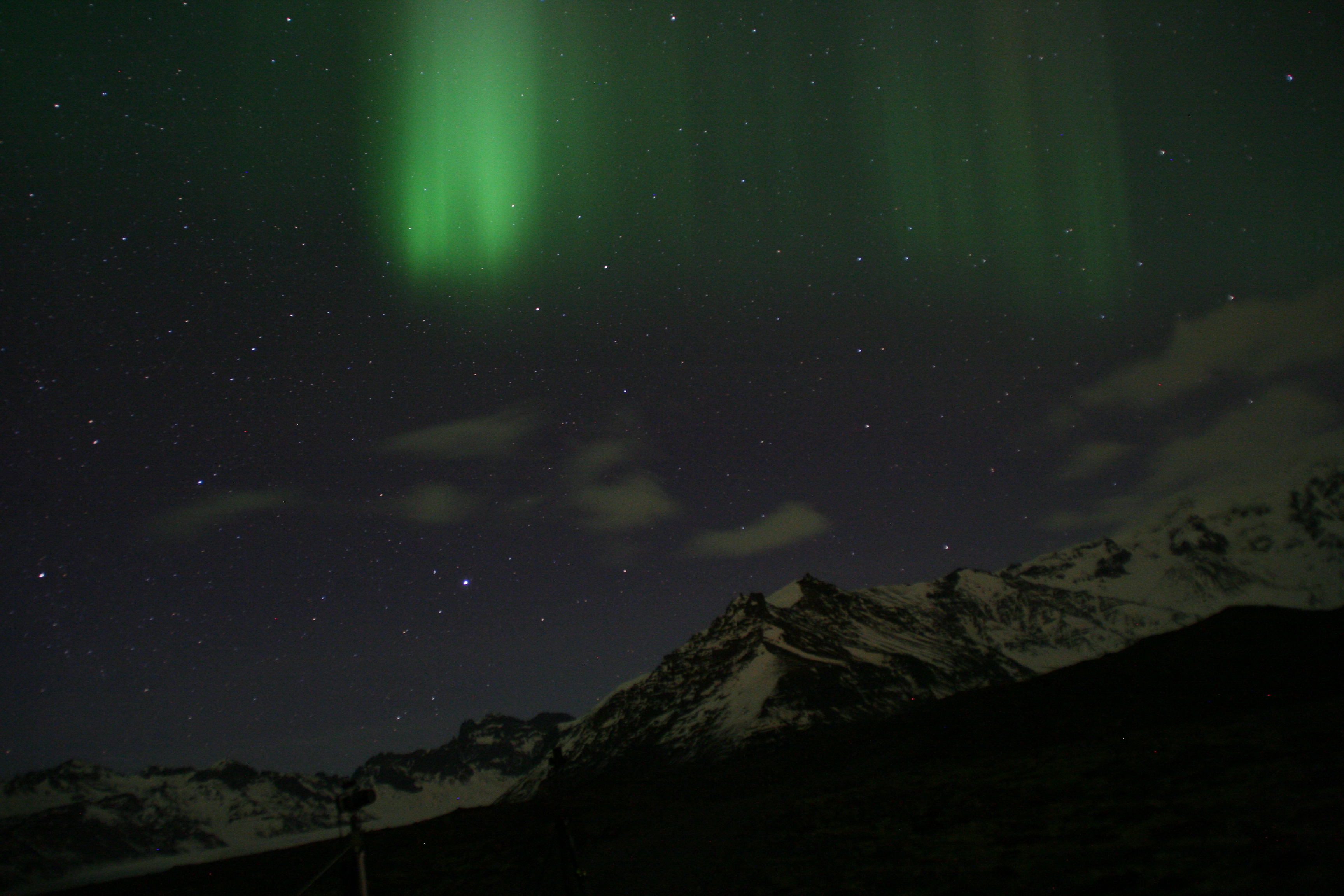 Aurora from Skaftafell, Iceland, Feb 2014